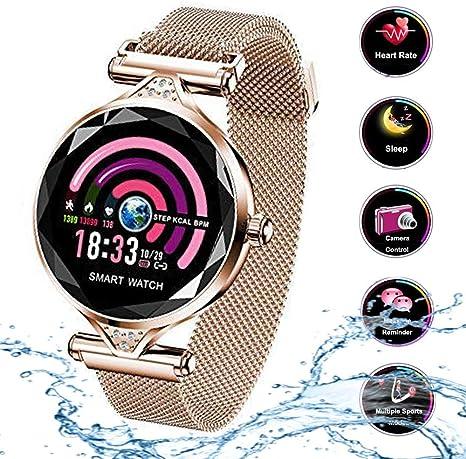 Smart Watch para Mujeres H1 Pulsera Actividad Inteligente con ...