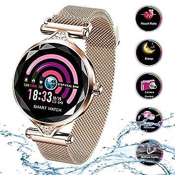 23be0cb0ccc6 Smart Watch para Mujeres H1 Pulsera Actividad Inteligente con Pulsómetro  Impermeable IP67 Podómetro Pulsera Deportiva Monitor de Ritmo Cardíaco Reloj  ...