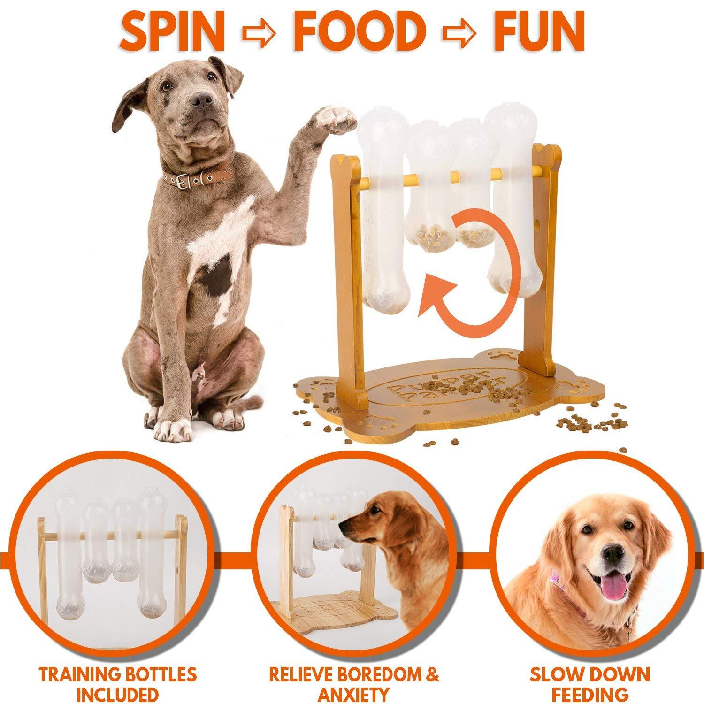 Dog Treat Dispenser >> Amazon Com Interactive Dog Food Puzzle Toy Treat Dispensing Dogs