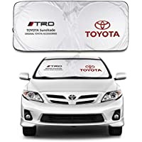 JYMAOYI for Toyota Sunshade TRD Windshield Visor Cover Car Window Sun Shade UV Protect Car Window Film for Most Toyota…