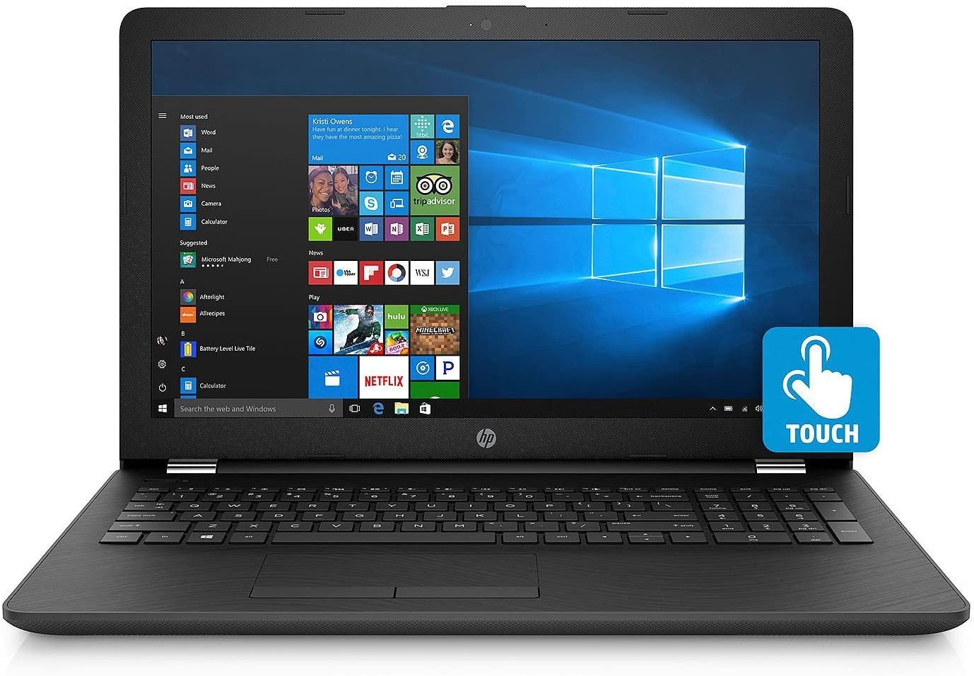 2019 HP 15.6-inch HD Touchscreen Premium Laptop PC, Intel Quad Core i5-8250U Processor, 8GB DDR4 Memory, 128GB SSD, 2TB Hard Drive, Backlit Keyboard, DVD, Bluetooth, Windows 10, Black