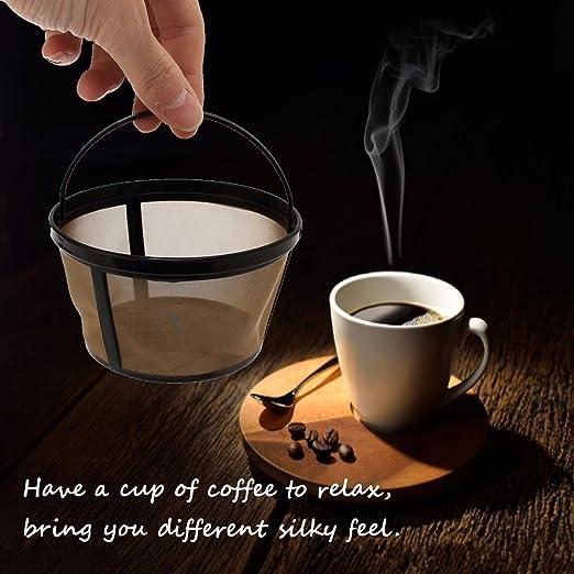 Envio Gratis] reutilizable oro cesta con filtro de café para 10 ...