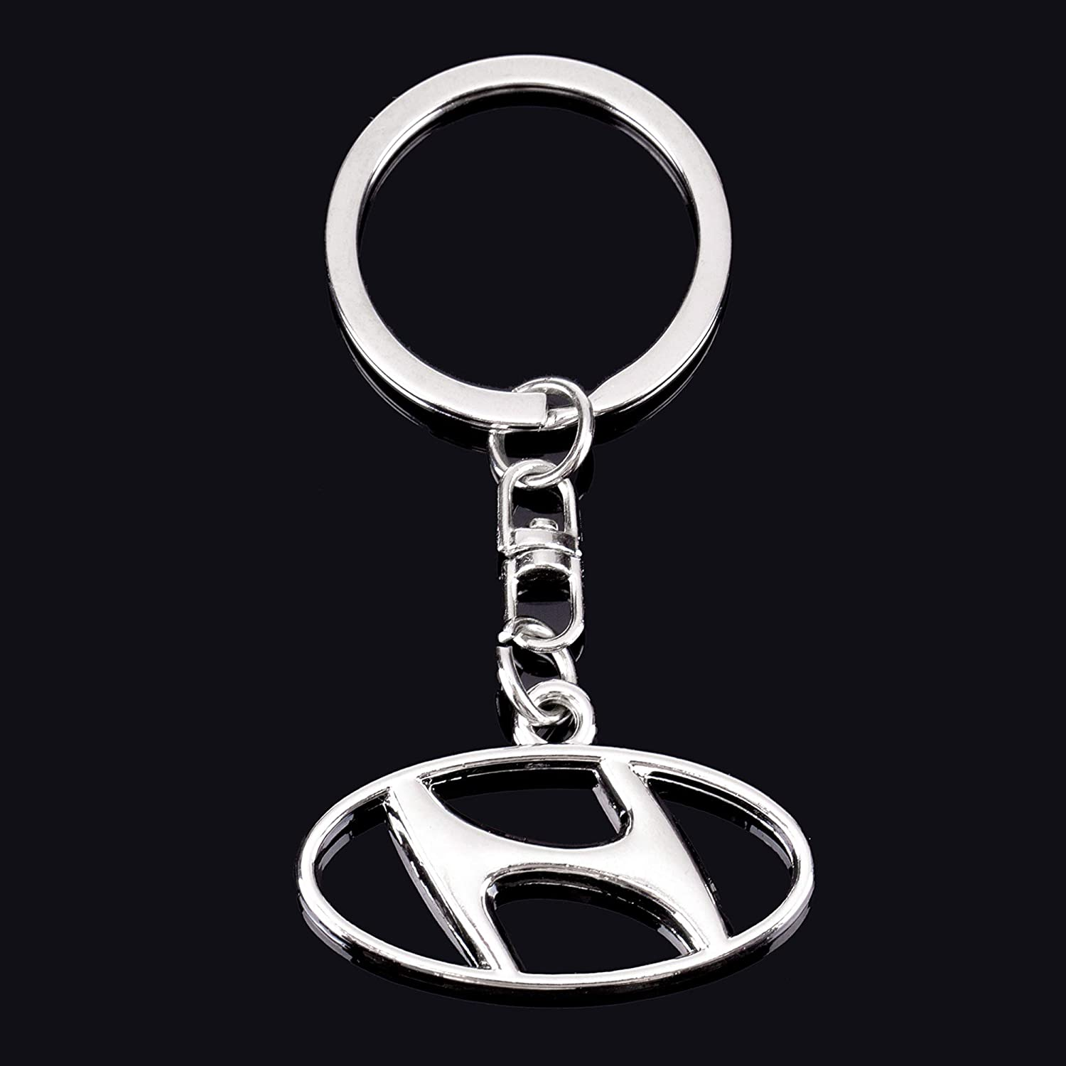 Best for Gifts QZS 3D Chrome Metal Key Chain Key Ring