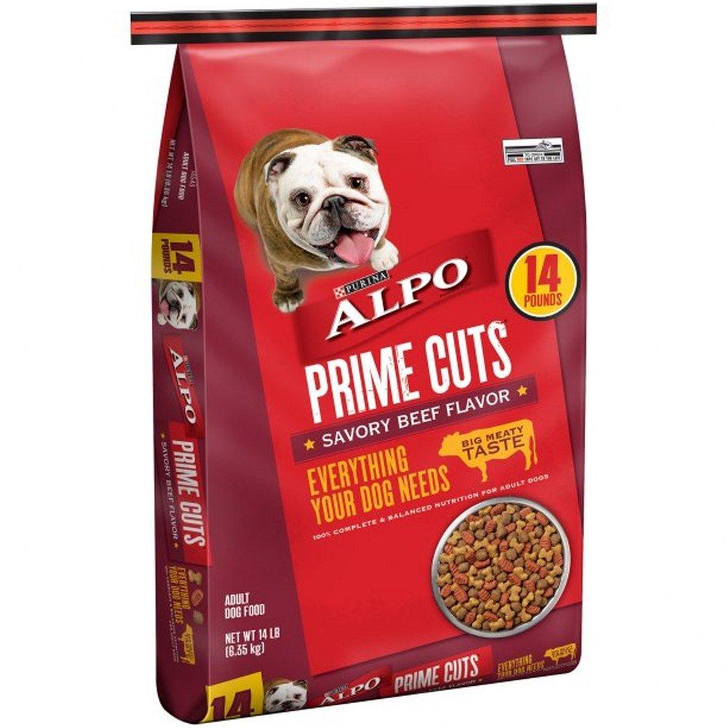 14 lb 3 bag ALPO Prime Cuts Savory Beef Flavor Adult Dog Food (14 lb 3 Bag)