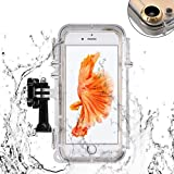 LSoug Waterproof iPhone 6/6s Case with 170 Degree Wide Angle Lens, Mountable, Fully Sealed Underwater Outdoor Rainproof Shock-Proof Sand-Proof Snow-Proof Case, Compatible with GoPro Accessories
