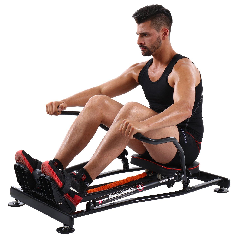 KiNGKANG Rowing Machine Adjustable Resistance Fitness Home Training Workout Rower Equipment by K KiNGKANG