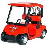 """4½"""" Die-cast Metal Golf Cart Model (Red)"""