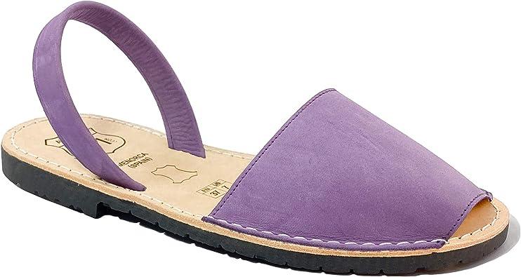 AVARCAS 101 Sandalias Planas de Piel para Mujer, Zapatos ...