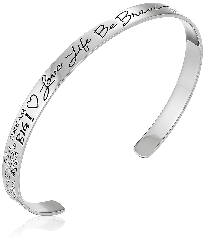 Sterling Silver Sentiment Cuff Bracelet 7