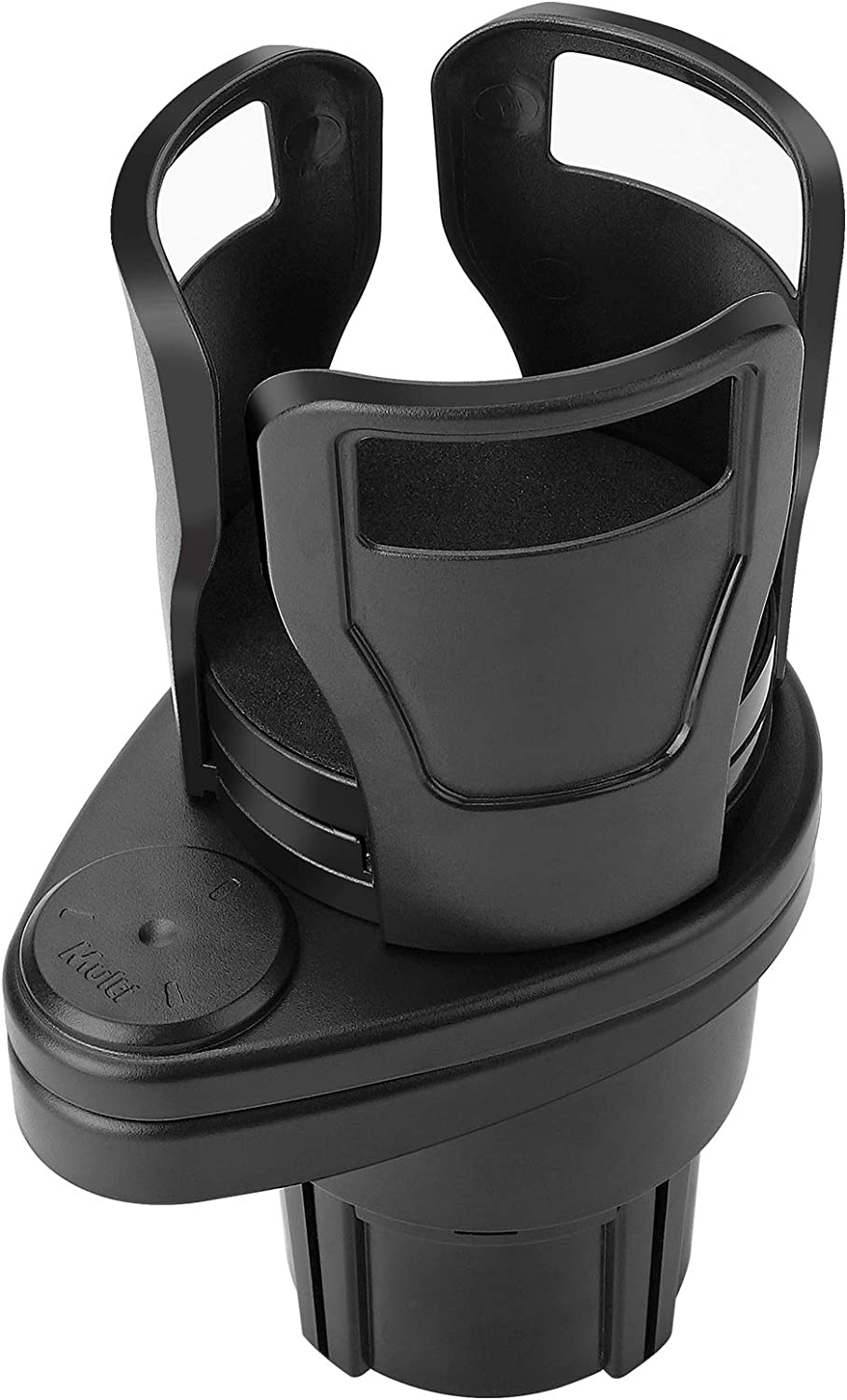 2 in 1 Car Cup Holder Expander Adapter, Universal Dual Cup Mount Extender Organizer 360° Rotating Adjustable Base Water Cup Drink Holder to Hold Most 17oz-20oz Coffee Beverage Bottles Storage Rack