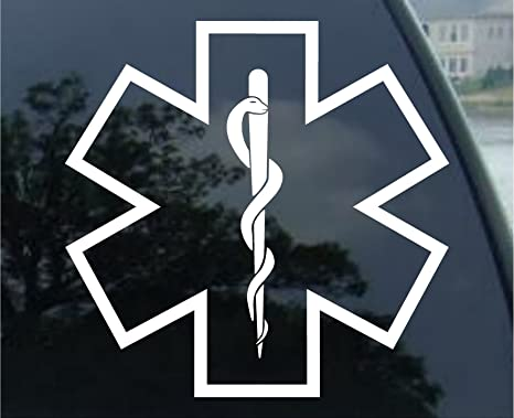 Graphix Star of Life Medical Outline Snake 5 5