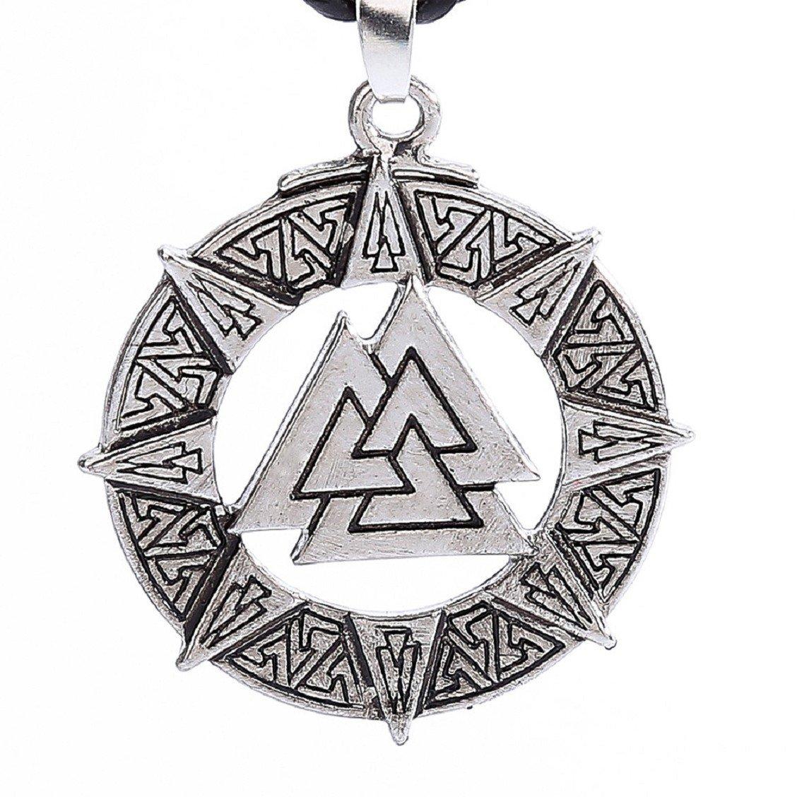 Naladoo Slavic Norway Valknut Pagoda Amulet Pendant Men Necklace Jewelry Warrior Symbol Valentine's Day Gift