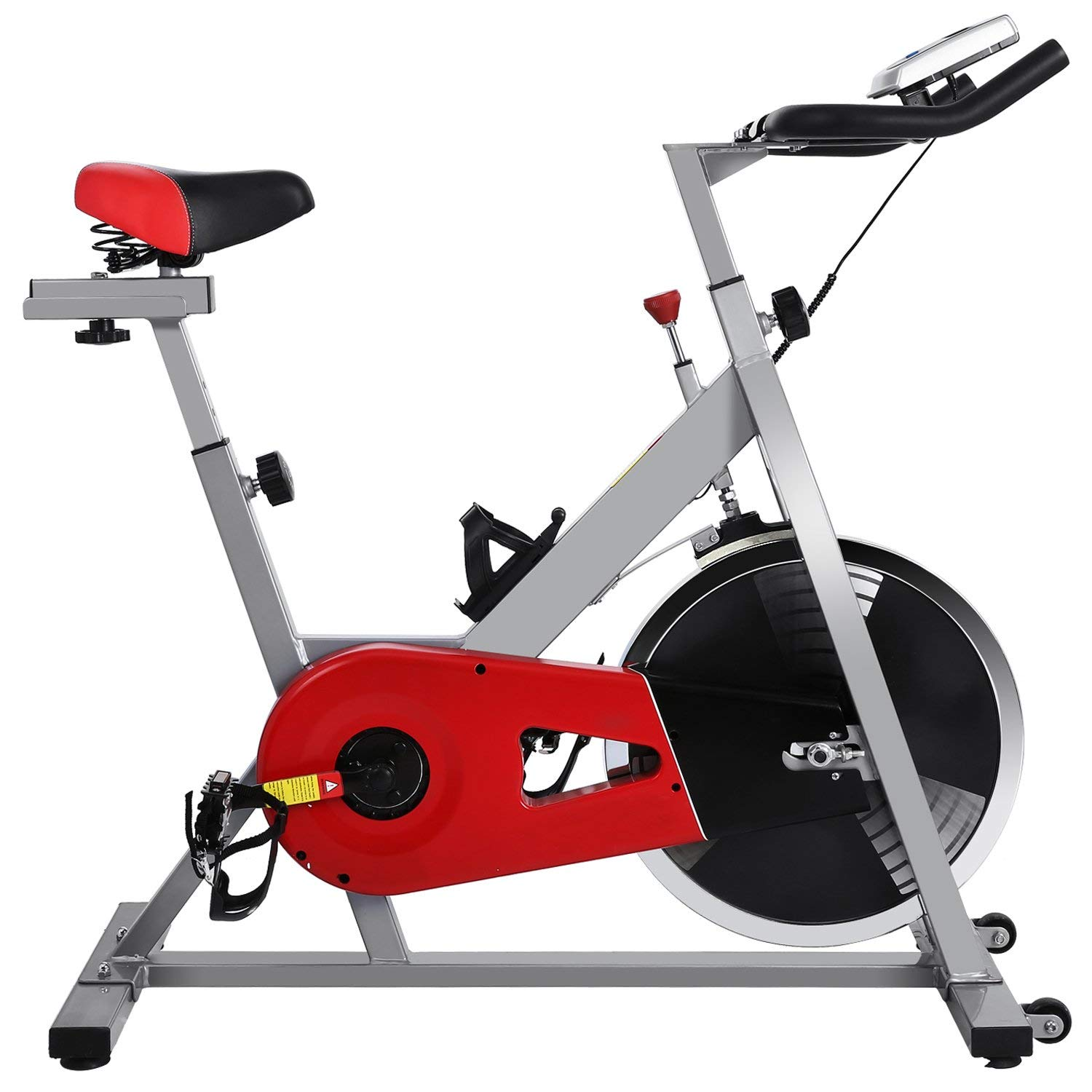 Ferty Indoor Cycling Bike Exercise Machine with Screen, Heavy Duty Gym Upright Fitness Belt Resistance Exercise Bike (US STOCK) by Ferty