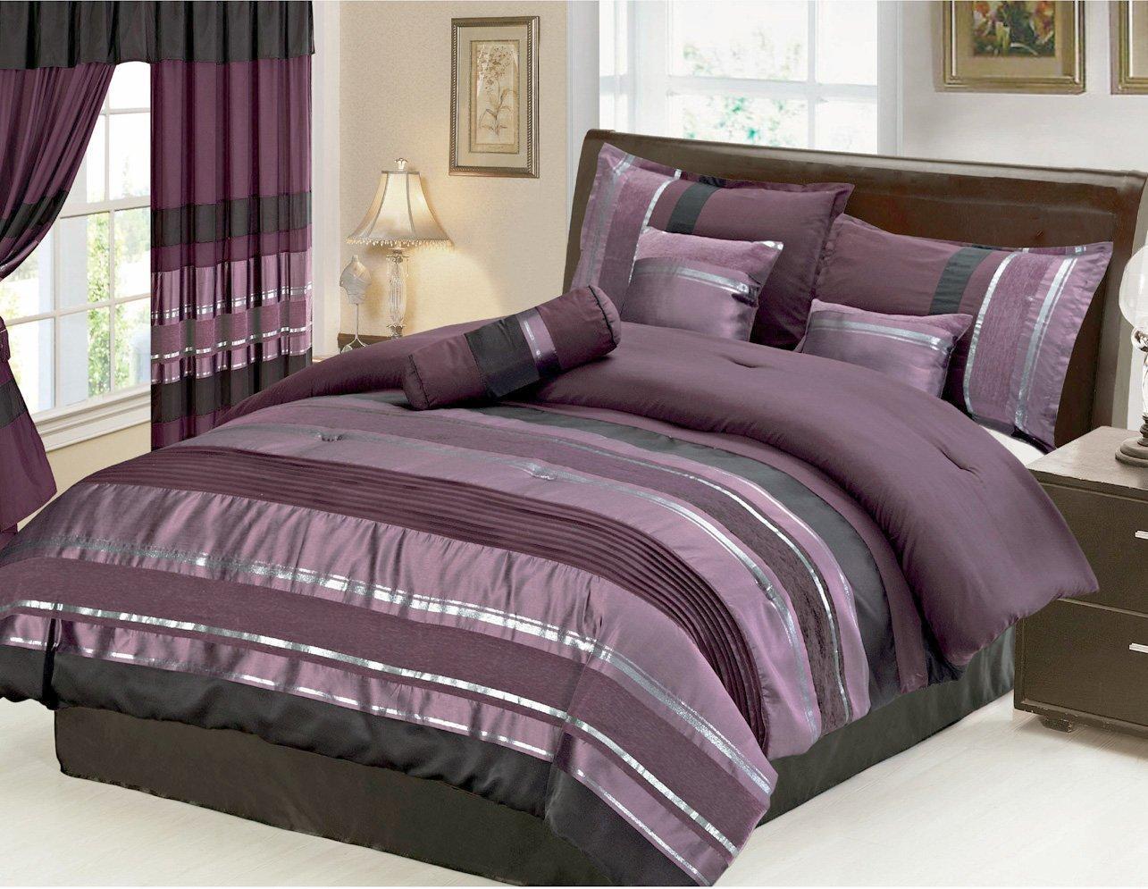sale and christmas bedding set pin sets eggplant comforter
