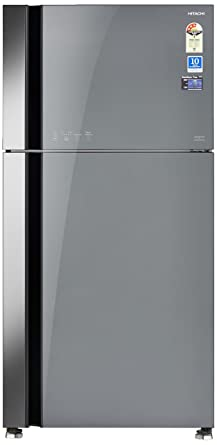 Hitachi 565 L 3 Star Frost Free Double Door Refrigerator(RVG 610 PND3 GGR, Grey, Inverter Compressor)