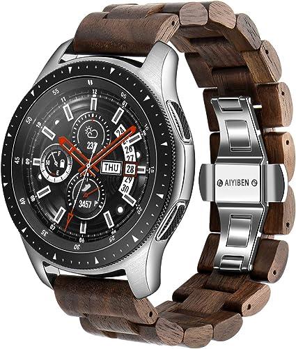 Amazon.com: Correa de reloj de madera de 0.866 in para ...