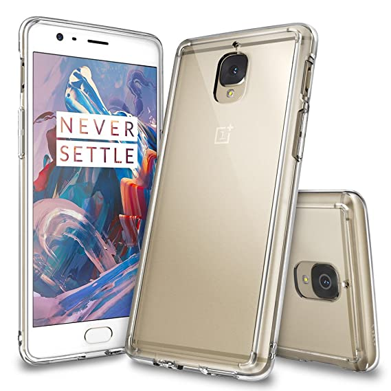 sale retailer ecc0d f8237 Ringke Fusion Compatible with OnePlus 3T / OnePlus 3 Case Crystal Clear PC  Back TPU Bumper [Drop Protection, Shock Absorption Technology] Raised ...