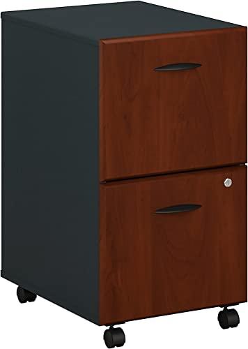 Bush Business Furniture Series A 2 Drawer Mobile File Cabinet, Hansen Cherry Galaxy