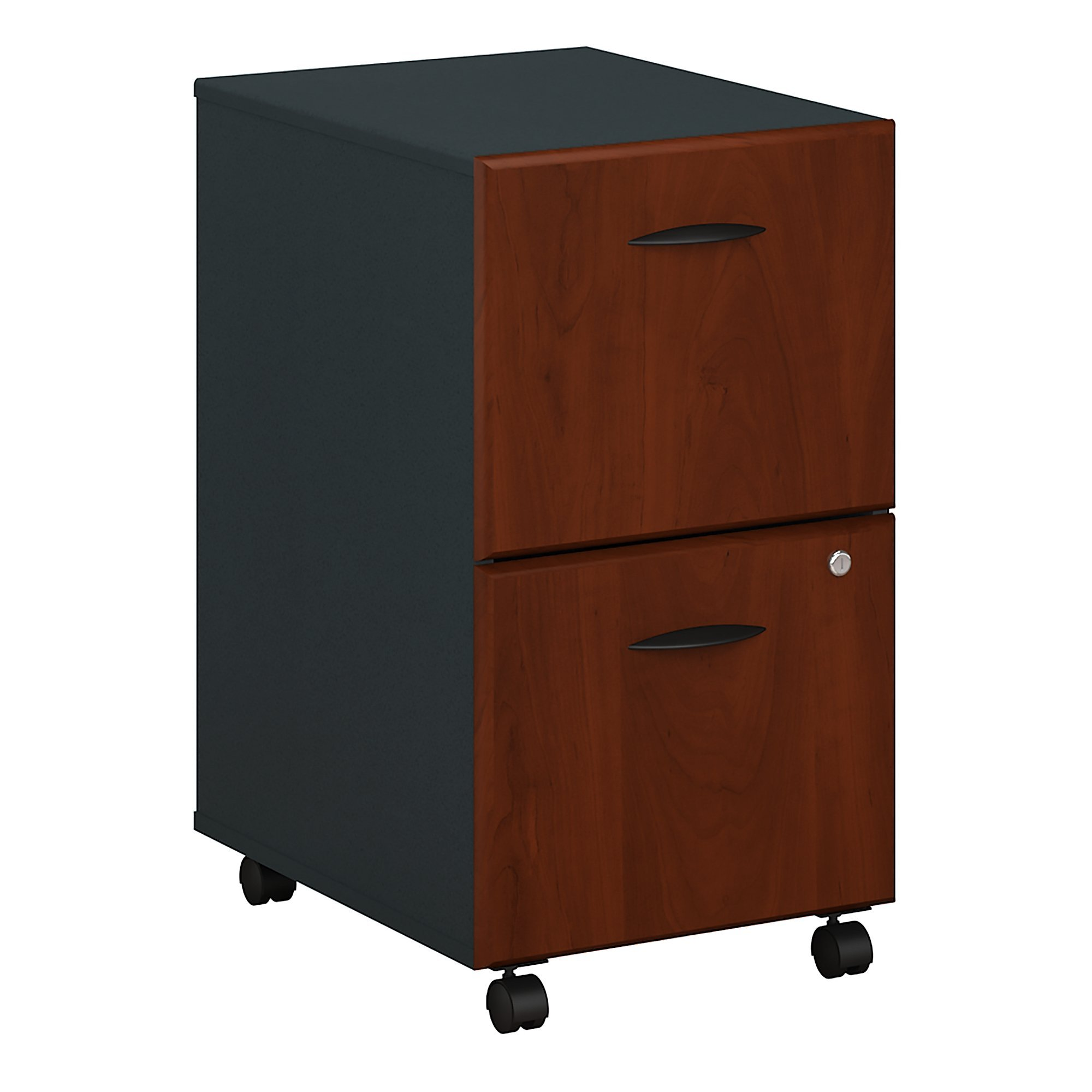 Bush Business Furniture WC94452P Series A 2 Drawer Mobile File Cabinet, Hansen Cherry/Galaxy by Bush Business Furniture