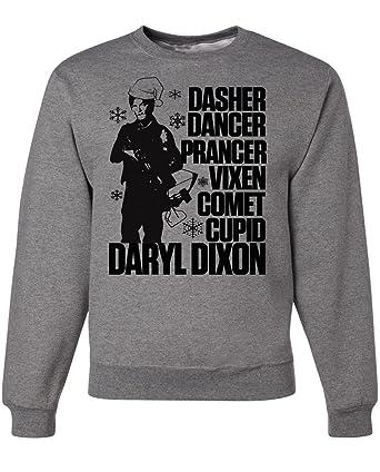 Amazoncom Walking Dead Christmas Daryl Dixon Ugly Sweater Clothing
