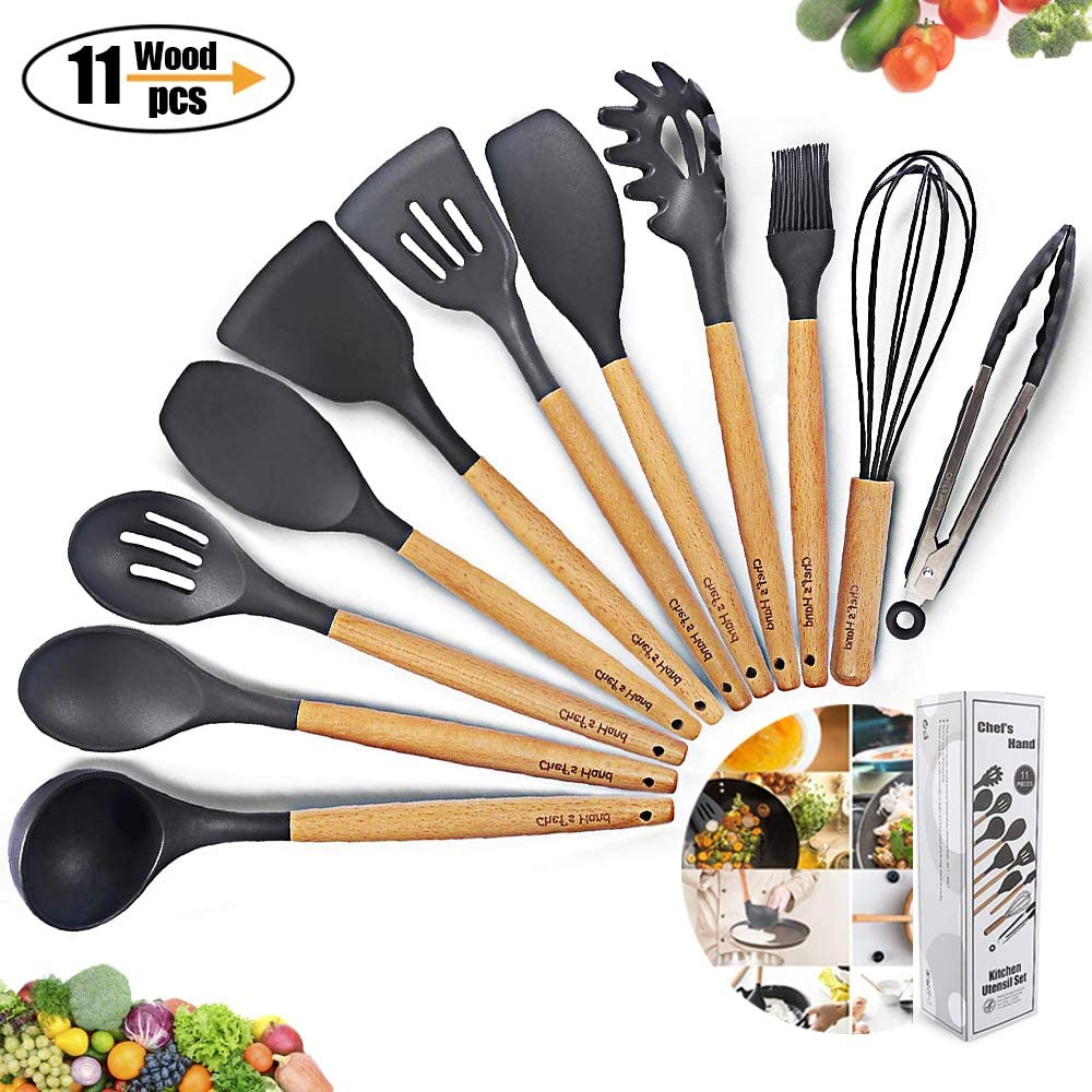 Kitchen Utensil Set Silicone Cooking Utensils 11Piece