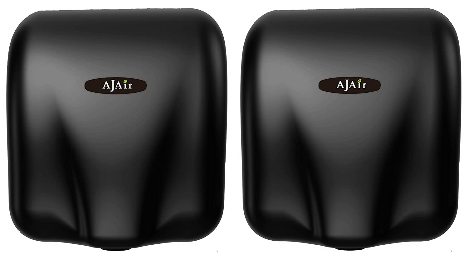 AjAir (2 Pack Heavy Duty Commercial 1800 Watts High Speed Automatic Hot Hand Dryer (Black) Zhejiang AIKE