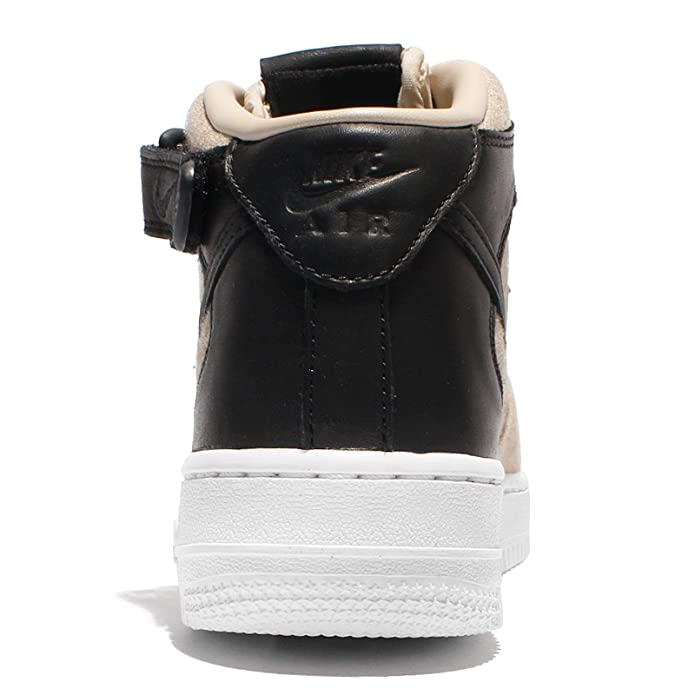 Nike W AIR Force 1 '07 MID LTHR PRM Womens Basketball Shoes 857666 001_6.5 Cool GreyCool Grey