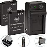 Pack Of 2 EN-EL12 Batteries & Battery Charger Kit for Nikon Coolpix AW100 AW110 S31 S800C S6100 S6200 S6300 S8100 S8200 S9050 S9100 S9200 S9300 S9400 S9500P300 P310 P330 S1100PJ S1200PJ Digital Camera + More
