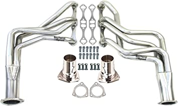 STAINLESS STEEL LONG TUBE EXHAUST HEADER FOR SBC MALIBU CAMARO MONTE CARLO REGAL
