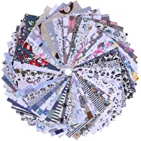 HEALLILY - 50 piezas de tela de patchwork