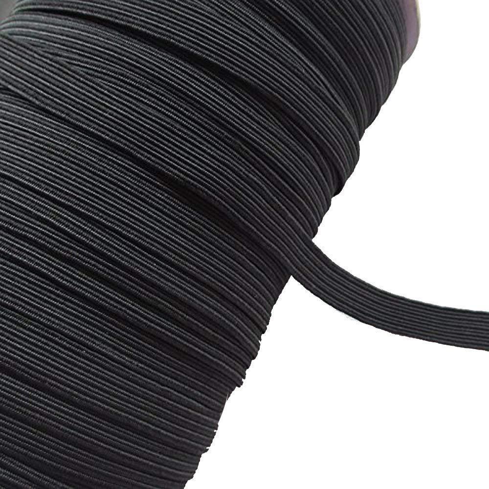 Banda el/ástica negra para costura 3 mm x 200 yards negro