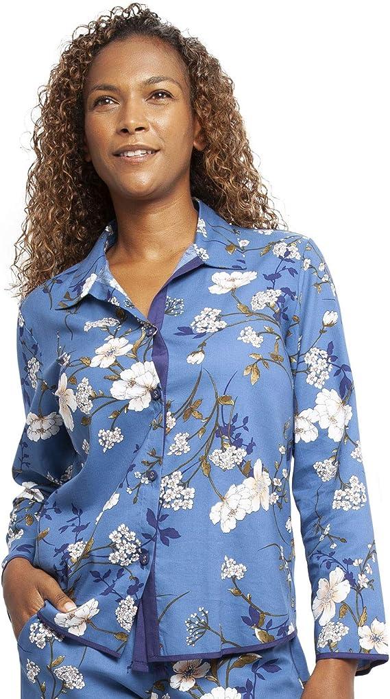 Cyberjammies 4268 Alice Burgundy Red Mix Floral Cotton Pyjama Top