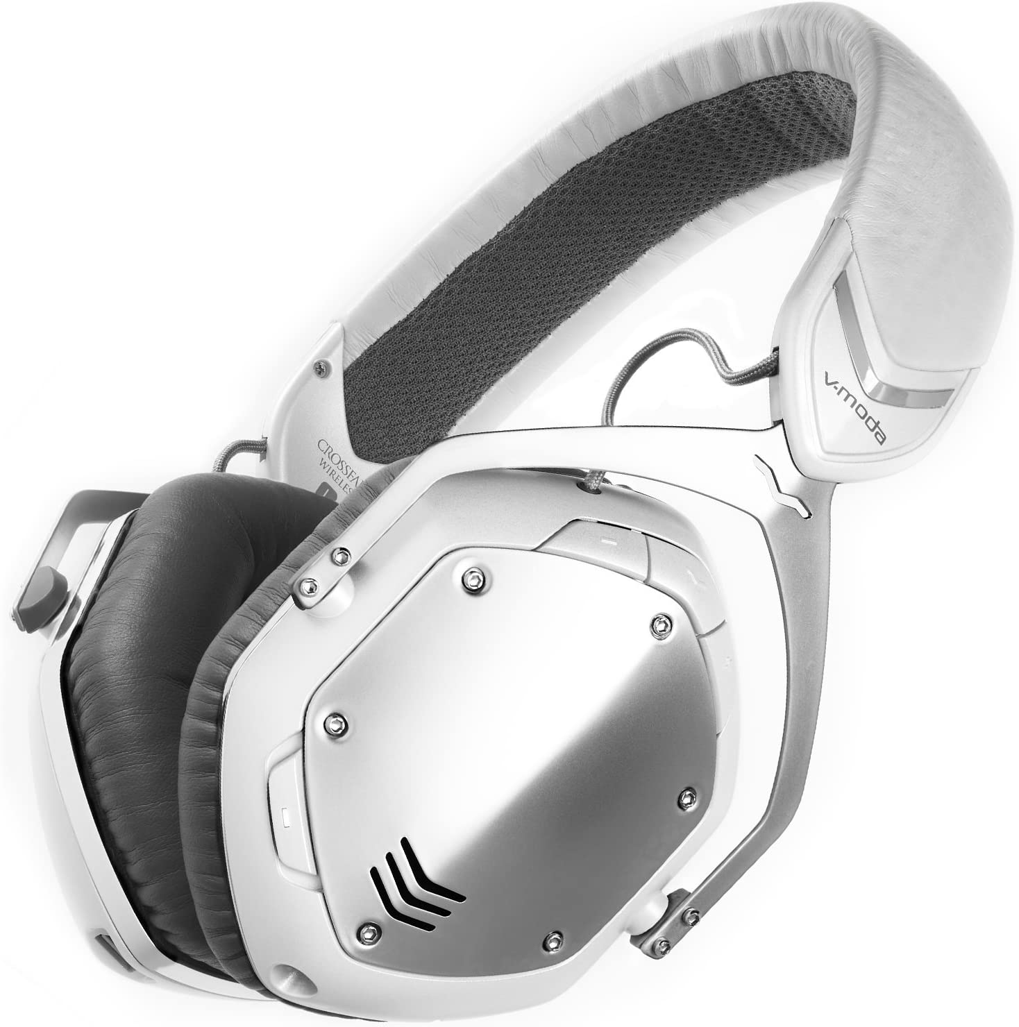 V-MODA Crossfade Wireless Over-Ear Headphone, White Silver