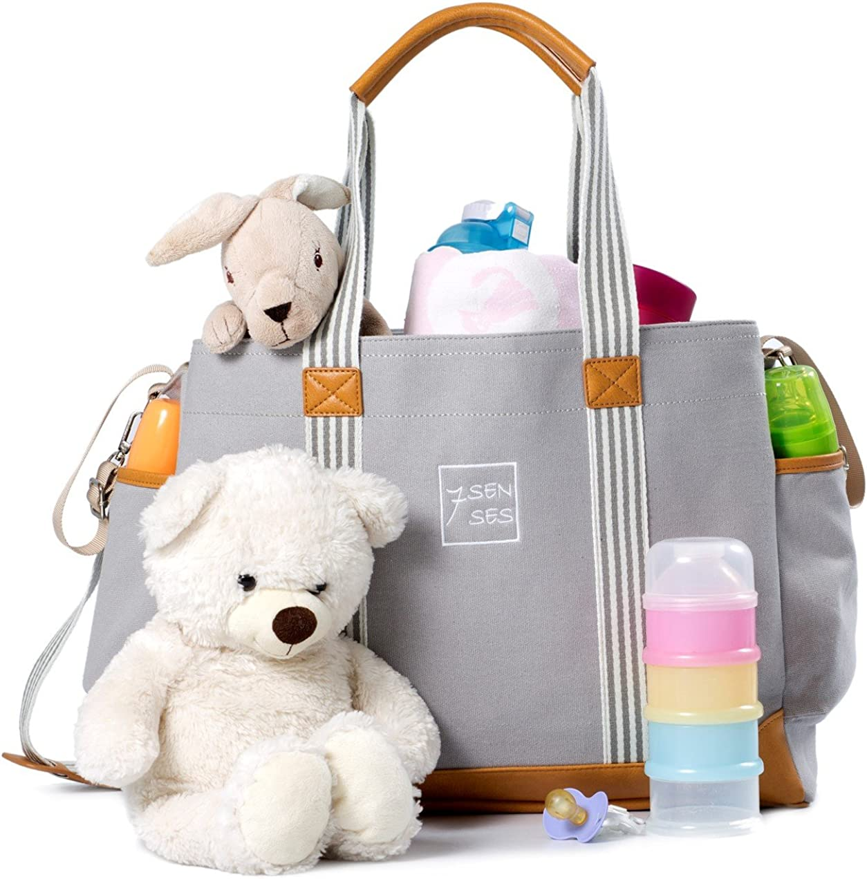 Diaper Bag Canvas Baby Tote Bag for Men and Women Travel with Newborn Girls Boys