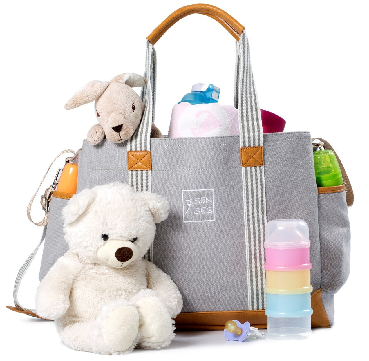 Diaper Bag for Girls and Boys - Large Capacity Baby Bag - Best Baby Shower Gift by 7Senses