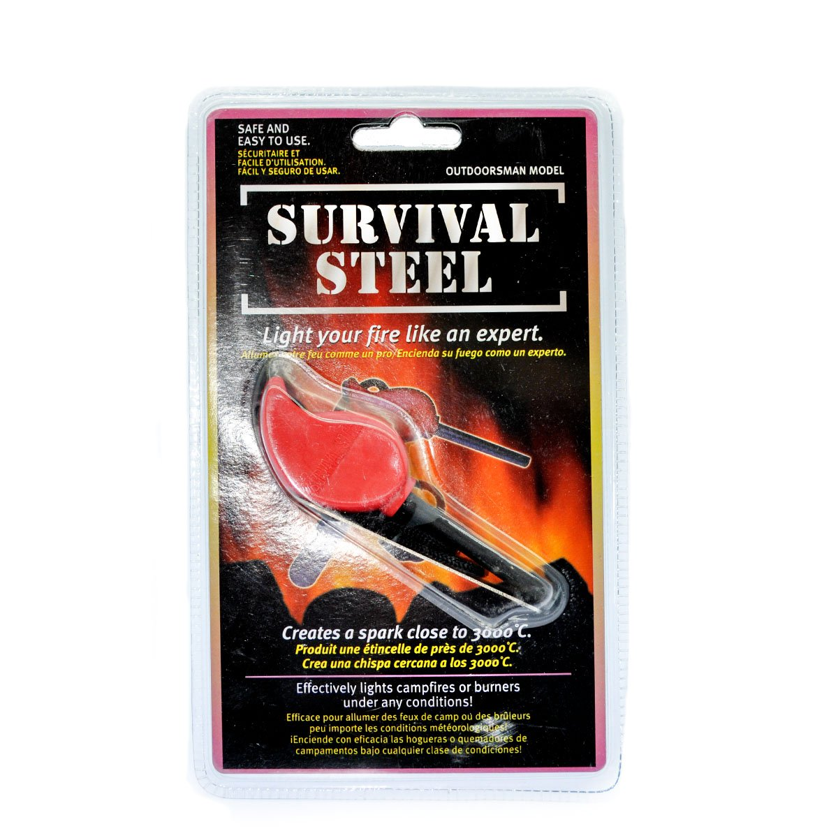 SurvivalSteel All Weather Fire Starter Inventions /& Gadgets 851380007109
