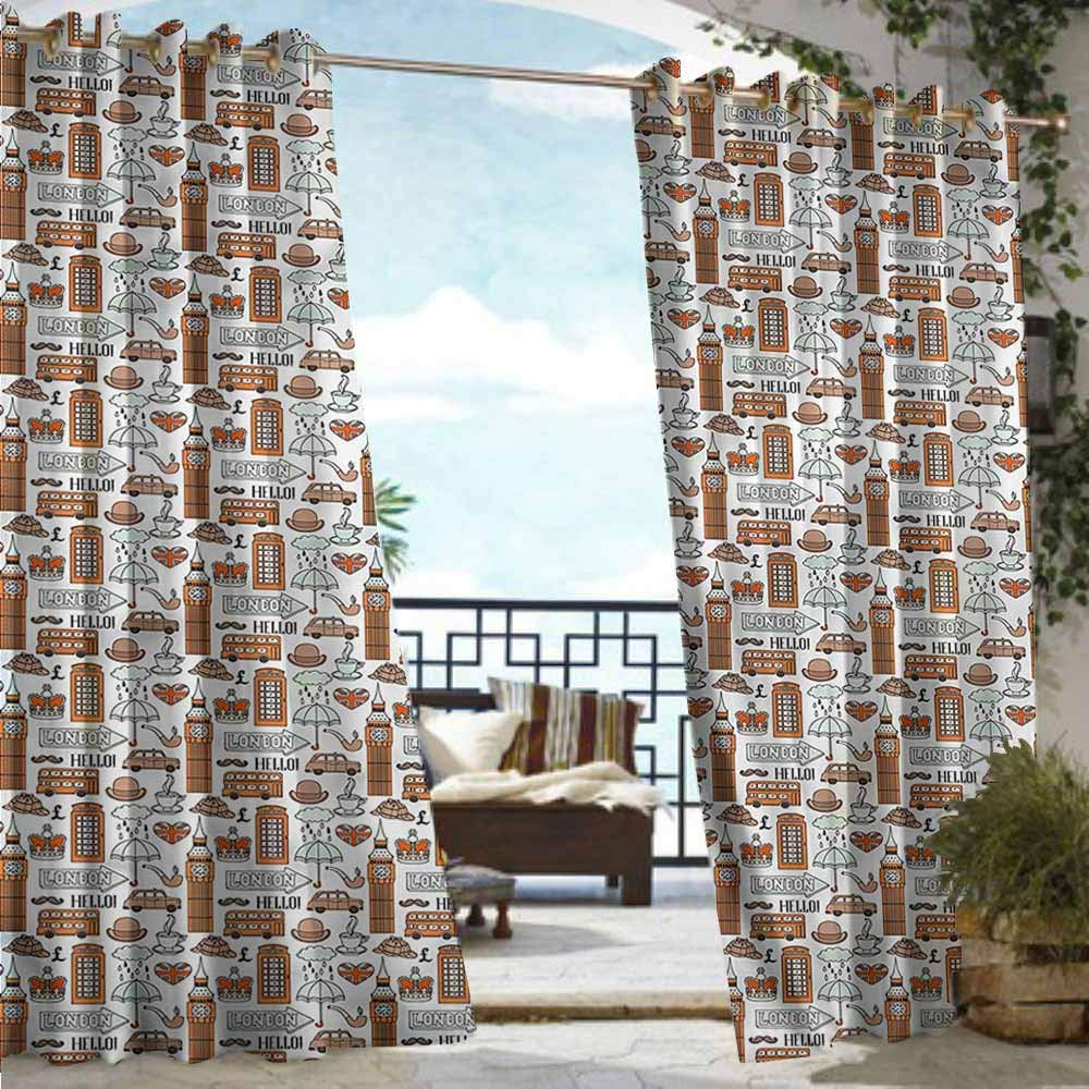 Amazon.com: Beihai1Sun Cortina de ventana con ojales para ...