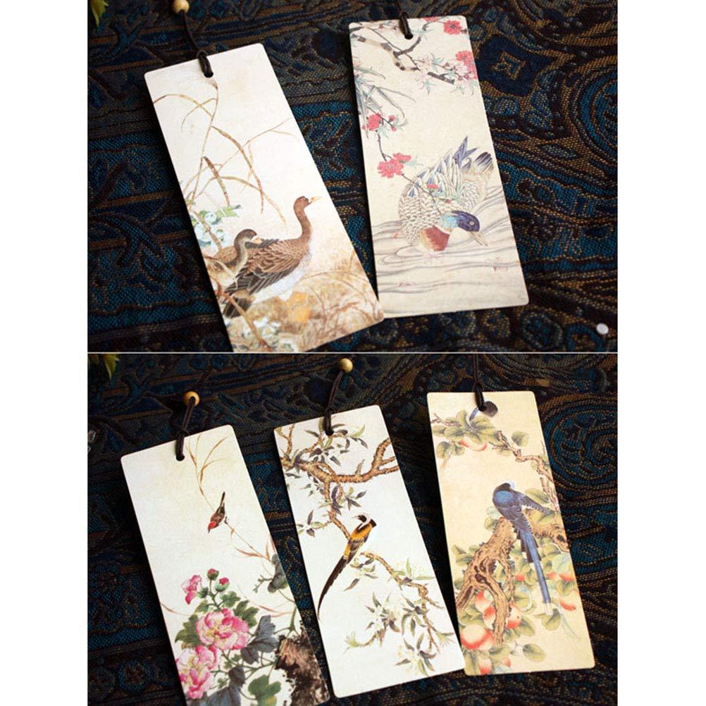STOBOK 5Pcs Segnalibri Vintage in Rilievo Set Marcatore Libri Elegante Marcatore di Pagina in Stile Cinese