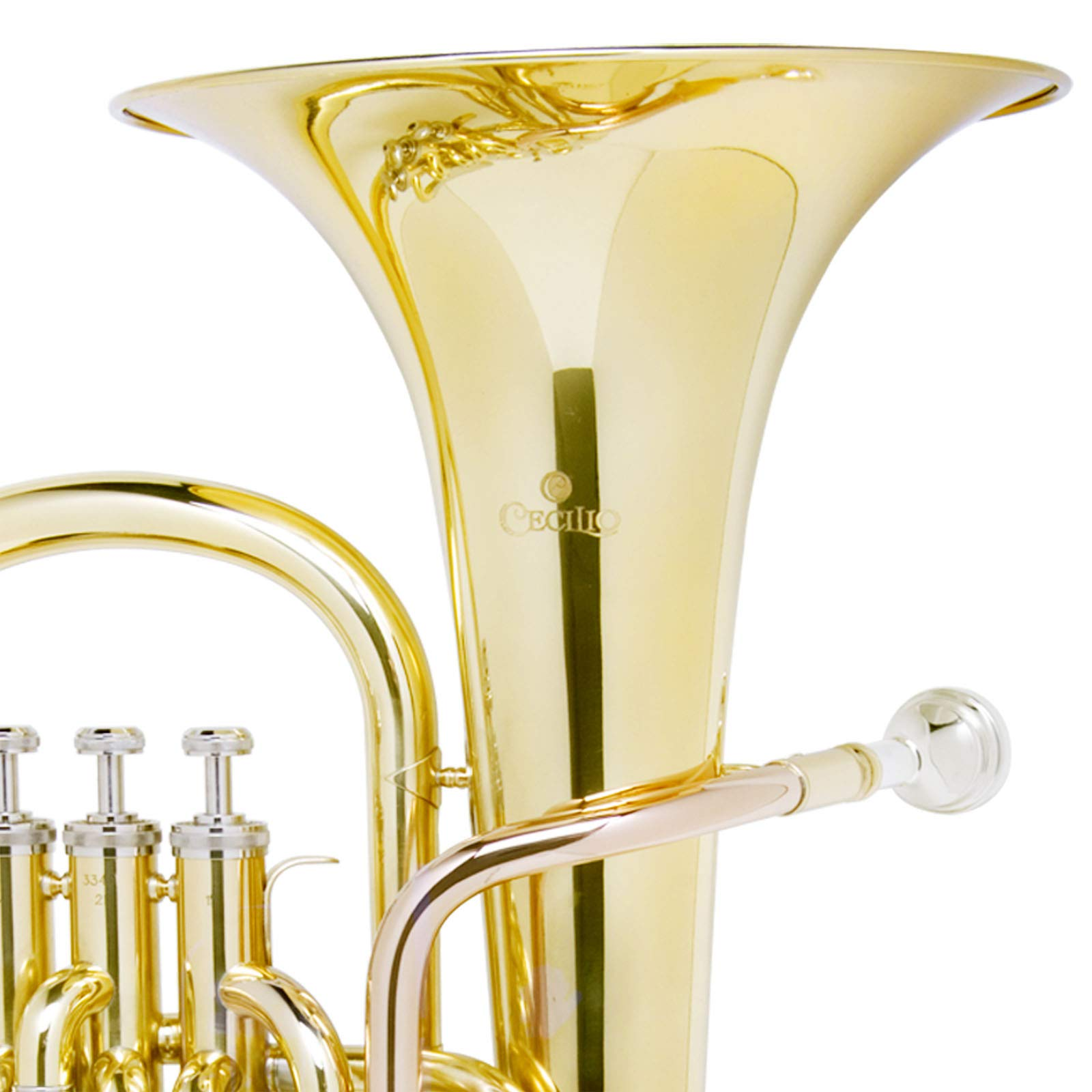 Mendini B Flat Baritone with Stainless Steel Pistons (Intermediate) by Mendini by Cecilio (Image #5)