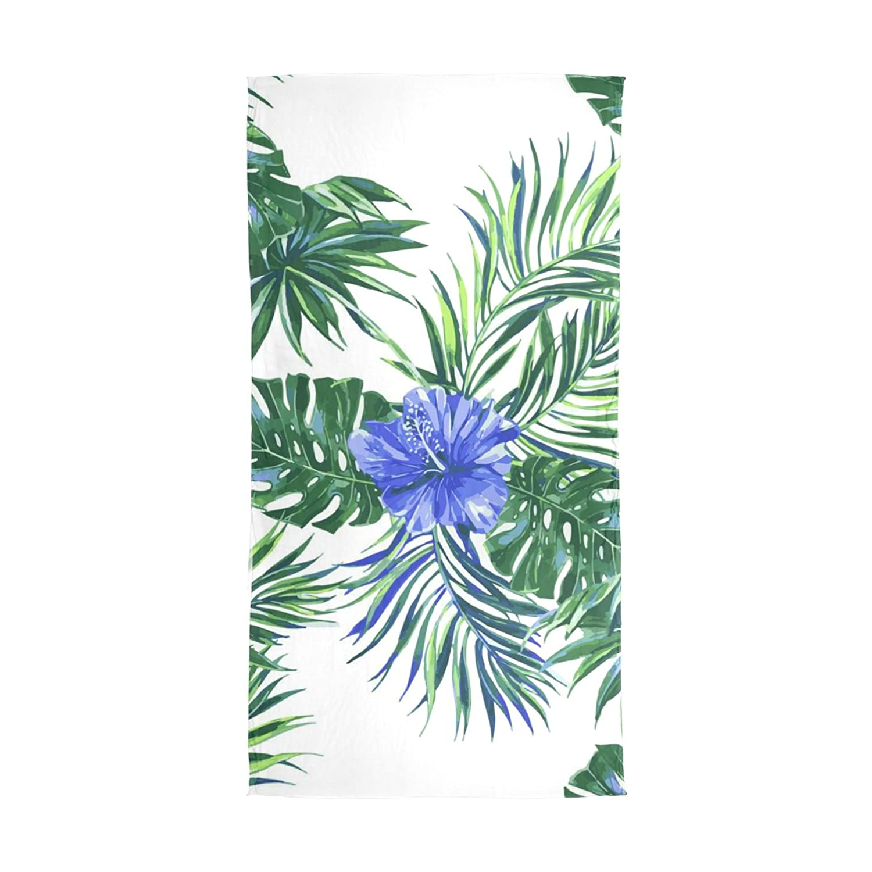 JSTEL Women Elegant Fashion Soft 100% Large Silk Scarf with Rainforest Leaf Flower Pattern