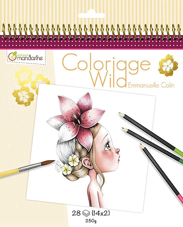 Avenue Mandarine - Cuaderno de colorear Wild by Emmanuelle Colin (Edición colector) (GY065O)
