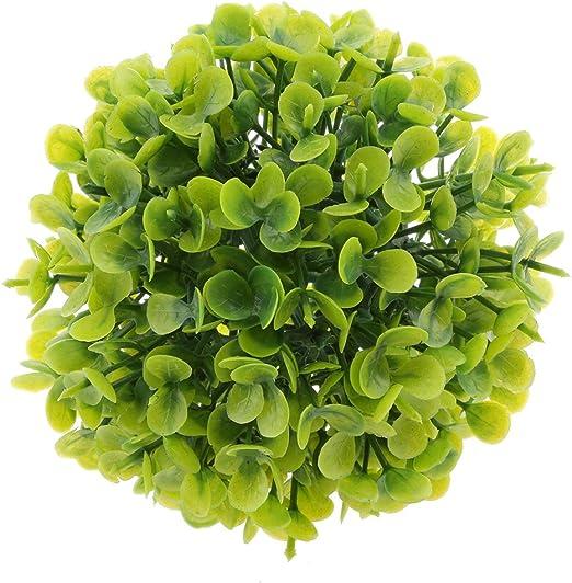 SM SunniMix - Pelota Decorativa para jardín (12 cm), Color Verde ...