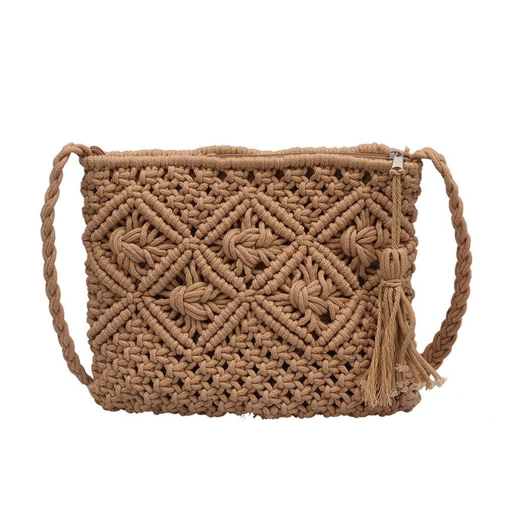 FGDJEE Rattan Bag Straw Bag...