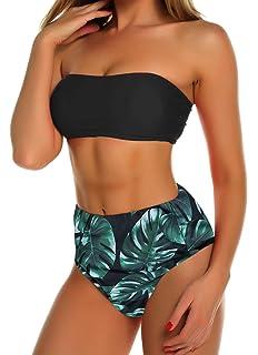Carolilly Damen Casual Bikinihose Bikini Slip Sommer Unterteile S, Schwarz