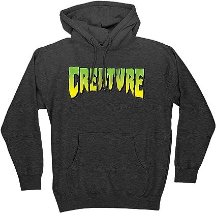 Creature Skateboard Pullover Hoody Sweatshirt Logo Charcoal Heather