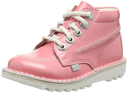 db64a1aab9e90 Kickers Girls' Kick Hi Ss16 Patent Infant, Light Pink Ankle Boots, 11 Child