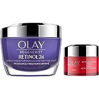 Olay Regenerist Retinol 24 Night Face Moisturizer 50ml and Olay Regenerist Micro-sculpting Face Cream 15ml Trial Size