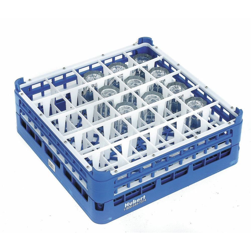 Vollrath Royal Blue Plastic 36 Compartment Dishwasher Glass Rack With 5 11/16'' Maximum Height - 19 3/4''L x 19 3/4''W x 7''H by Vollrath (Image #1)
