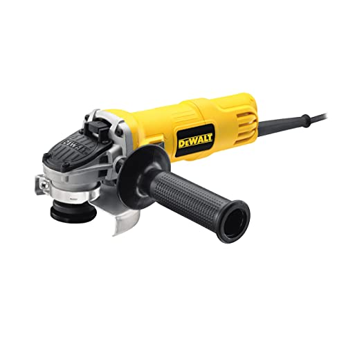 DeWalt DWE4056-QS Mini-Amoladora 115 mm 800W 11.800 RPM, Negro, Amarillo