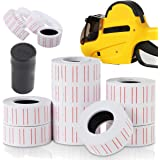Buytra 10 Rolls Retail Product Price Tags Labels Paper Stickers with Refill Ink Roll for MX-5500 Price Gun Labeller
